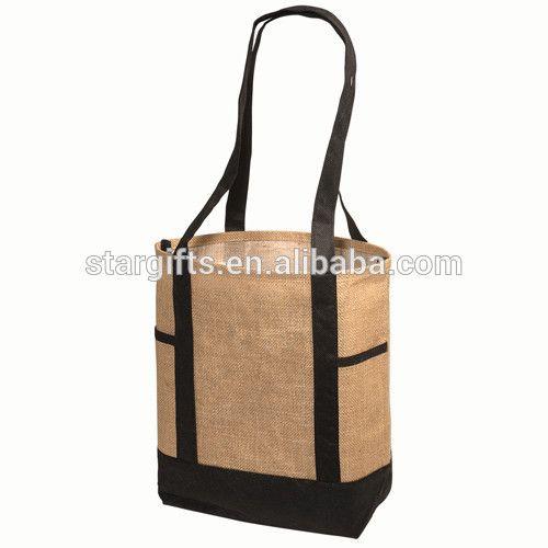 Wholesale Custom Shopping Reusable Jute Grocery Bag For Women