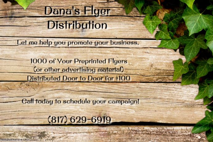 Dana's Flyer Distribution