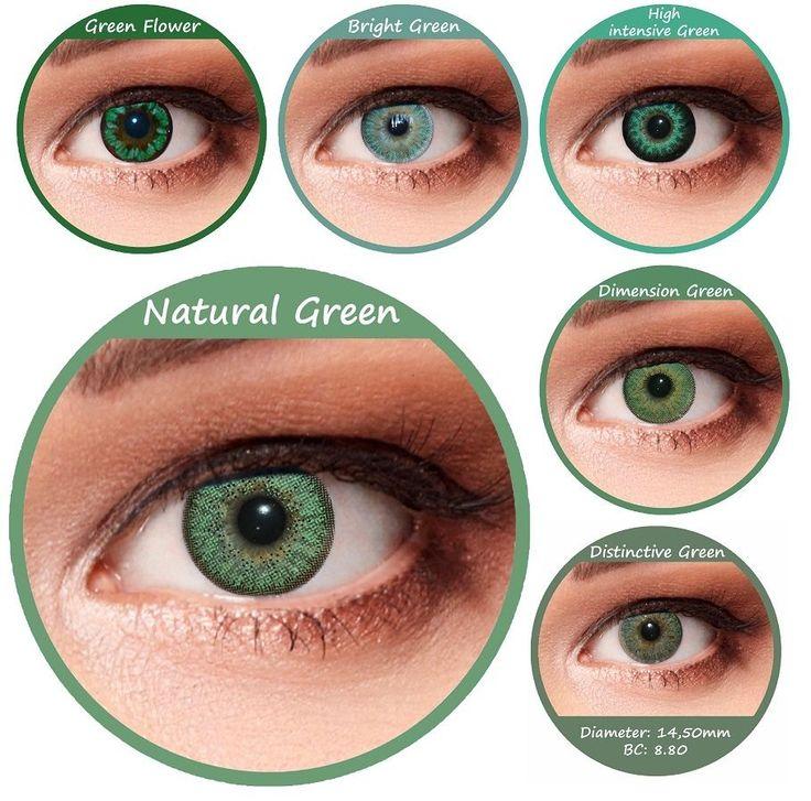 Designlenses © Verde lenti a contatto colorate otto diversi modelli!