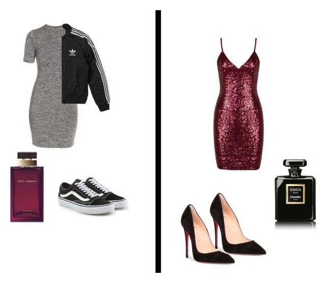 """Which One ?"" by isagarcia18 on Polyvore featuring moda, French Connection, Vans, adidas, Christian Louboutin, Dolce&Gabbana y Chanel"