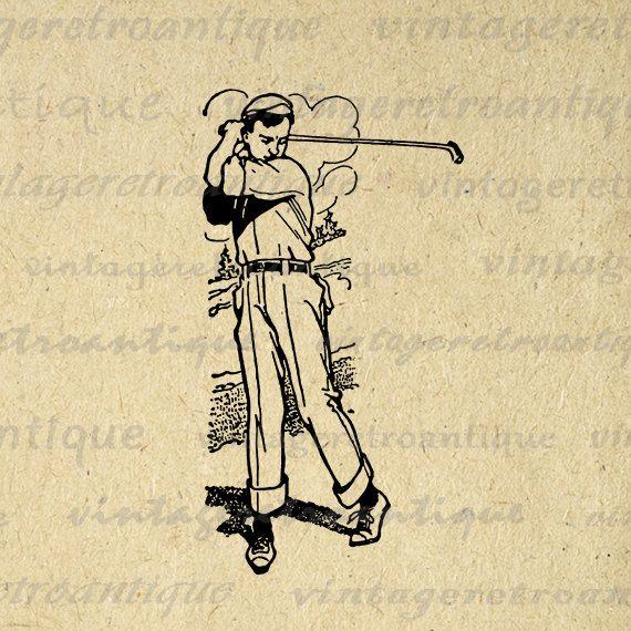 vintage golf clip art - photo #5