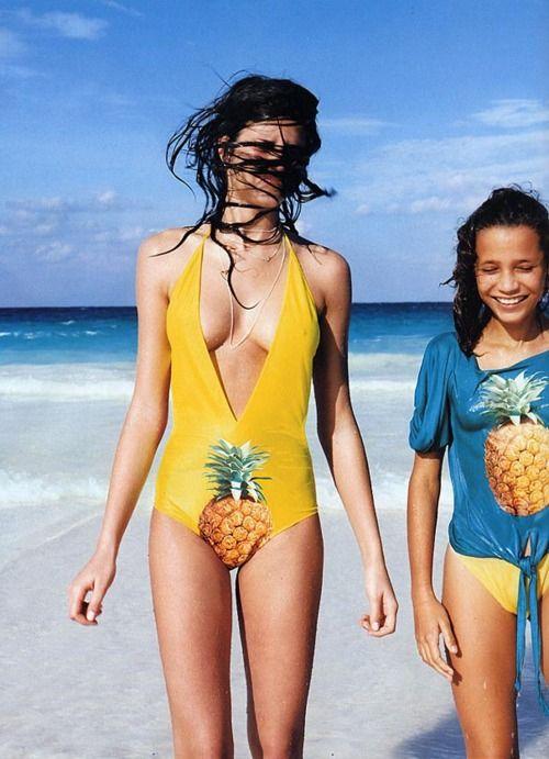 HAHA Pineapple. Interesting Placement! #funny #beach #swimwear
