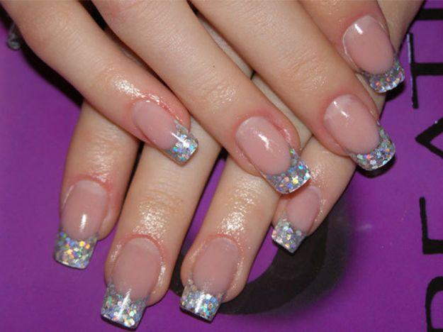Французский маникюр в стиле «Миллениум» ::: onelady.ru ::: #nail #nails #nailart #manicure