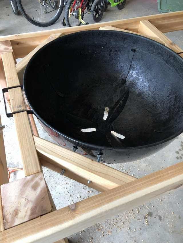Weber Kettle Table Weber Grill Table Diy Grill Table Weber