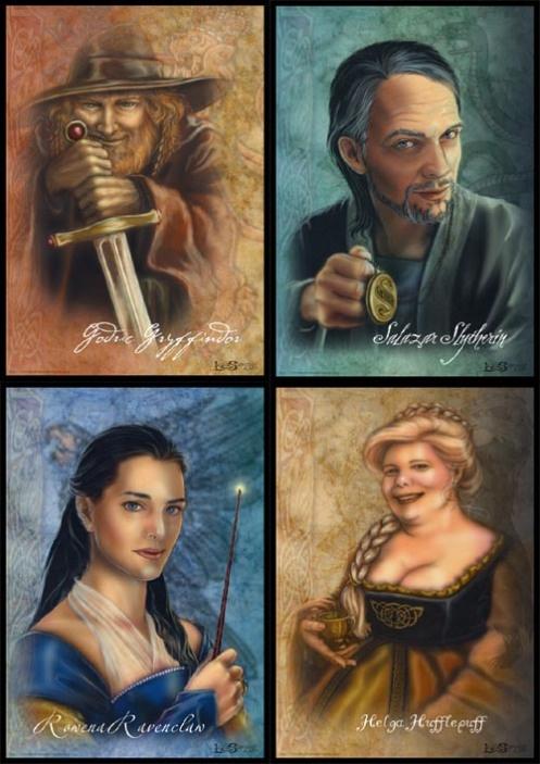 'Godric Gryffindor,' 'Salazar Slytherin,' 'Rowena ...  Harry Potter Godric Gryffindor Wand
