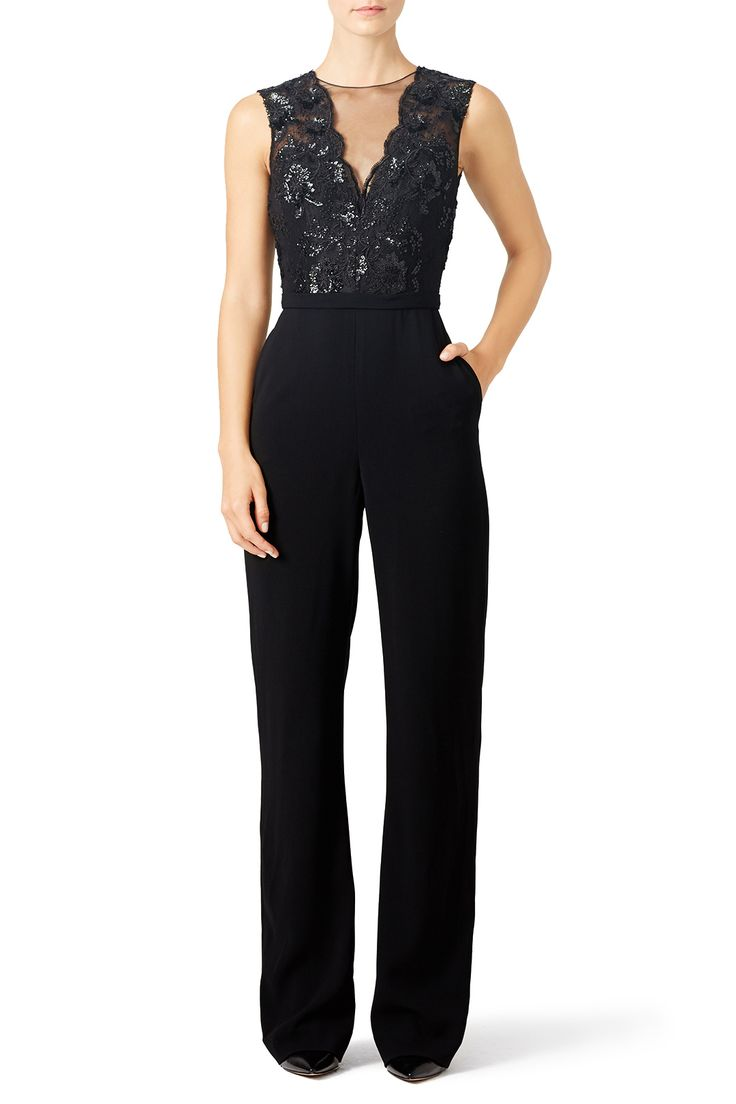 Rent Marisol Jumpsuit by Theia for $90 only at Rent the Runway.