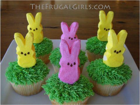 Easter: peep cupcakes