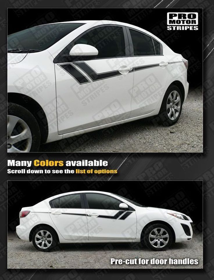 Mazda 3 2009-2013 Thunderbolt Hash Accent Side Stripes