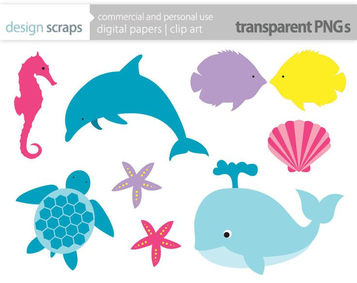 sea life clipart | Request a custom order and have something made just for you.