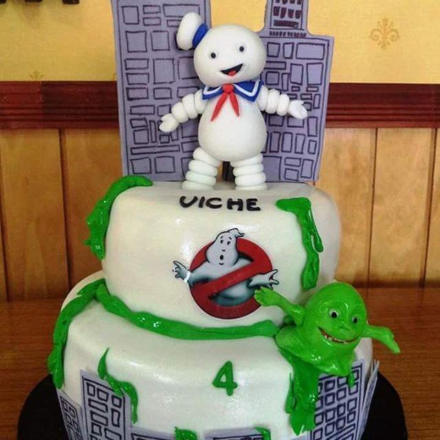 #Ghostbusters #fondant #cake by Volován Productos #instacake #puq #Chile #VolovanProductos #Cakes #Cakestagram #SweetCake #Cazafantasmas