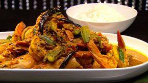 Prawn okra curry from Masterchef Australia | Television New Zealand | Entertainment | TV One, TV2, U