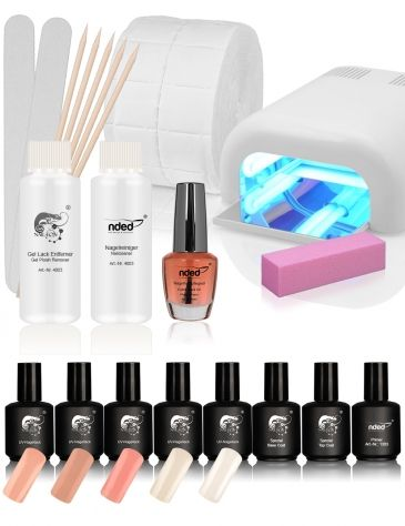 With the NAIL-EON UV Nail Polish Manicure Set – French Nails, you can create perfect French nails when used correctly. In addition to the UV nail polishes suitable for creating French nail art, the comprehensive set includes accessories such as a NAIL-EON UV lamp, top and base coat and primer. #nded #naileon #nail #polish  www.nded.com