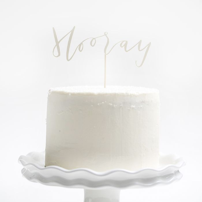 yes ma'am hooray cake topper