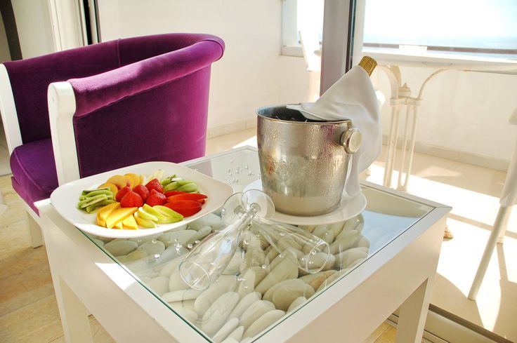 Indulge in one of our unique in room services! A tasty fruit platter accompanied by champagne is our little private treat to you! #Cyprus #AyiaNapa