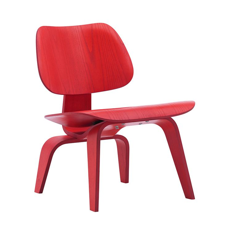 Discover the Vitra Eames LCW Chair - Red Stained Ash at Amara
