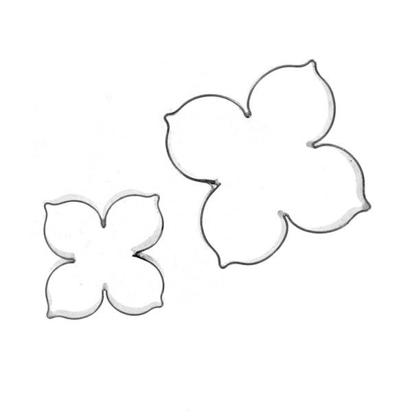 Crystal Flowers Hydrangea Petal Cutter Set Of 2 By Chef Alan Tetreault This Set Consists Of Two Cutte Paper Flower Kit Felt Flowers Patterns Paper Flowers Diy