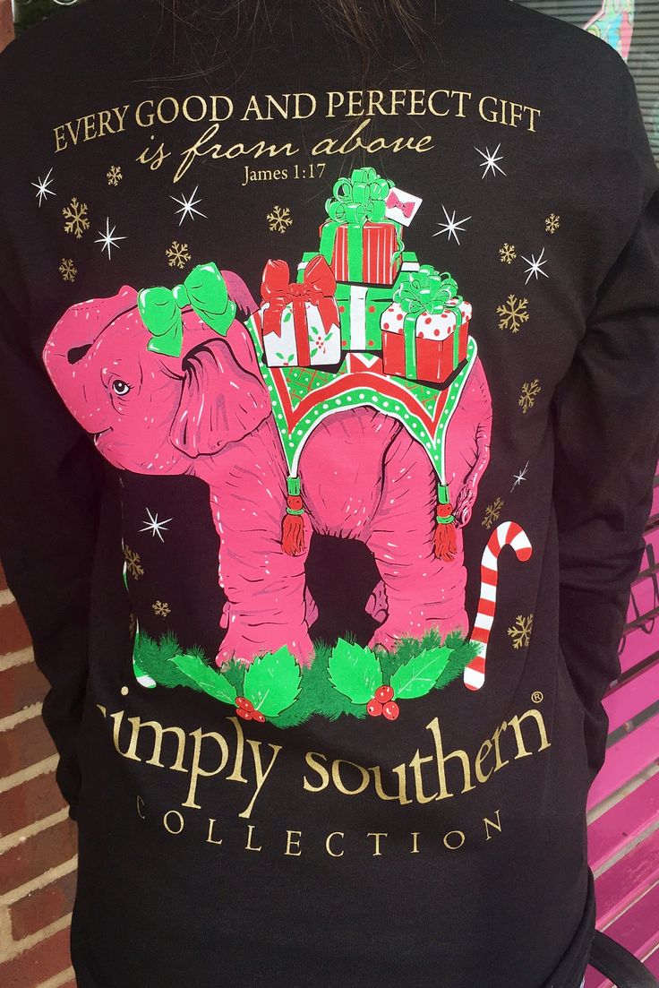 Simply Southern Perfect Gift Tee - Black from Chocolate Shoe Boutique