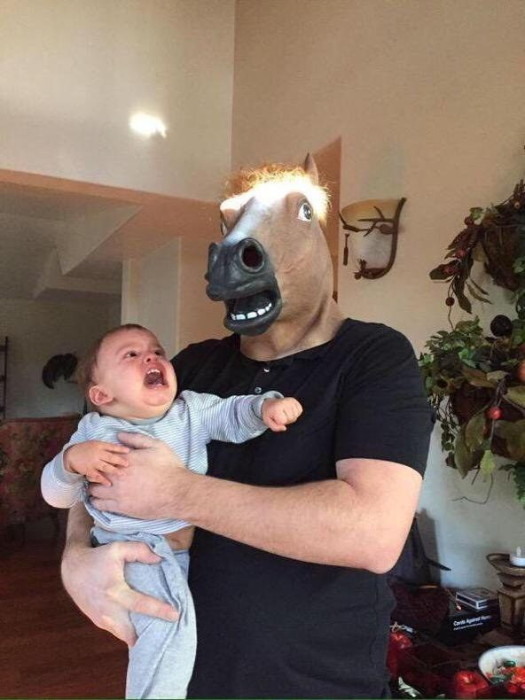 Little Jorge is going to love this horse mask.