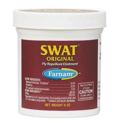Farnam Swat Equine Original Fly Repellent Ointment Kills Flies Ticks Pink 6 oz