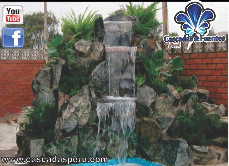 Dise o de cascadas artificiales buscar con google - Diseno de cascadas para jardin ...