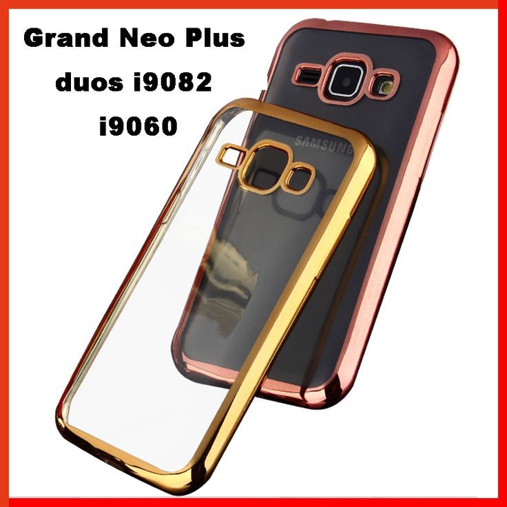 luxury coque cover case for samsung galaxy Grand Neo Plus duos i9082 i9060 back soft tpu clear cases phone gold Silicone Silicon