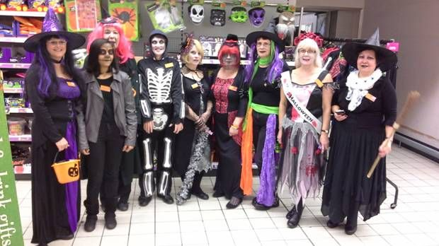 Don't the team at Sainsbury's Friar Street, Reading look absolutely fabulous?! Everyone had fun raising funds and awareness for Hope for Tomorrow during their Fancy Dress Competition:  http://www.hopefortomorrow.org.uk/news-and-events/sainsburys-friar-street-reading-halloween-fancy-dress-competition-success/