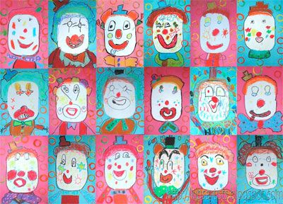 Clowning Around: Drawing Lessons for Kids: KinderArt ®