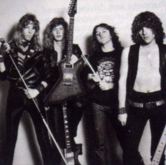 "The original Metallica lineup. Most people say they love this band, but can't name the OG crew that created the thrash classic ""Kill 'em All""."