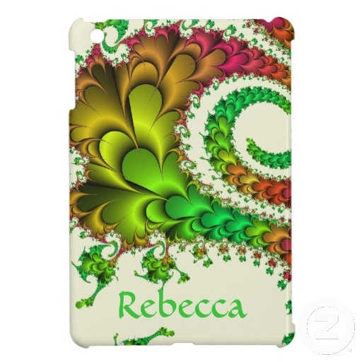 Colorful Floral Fractal Case For The iPad Mini
