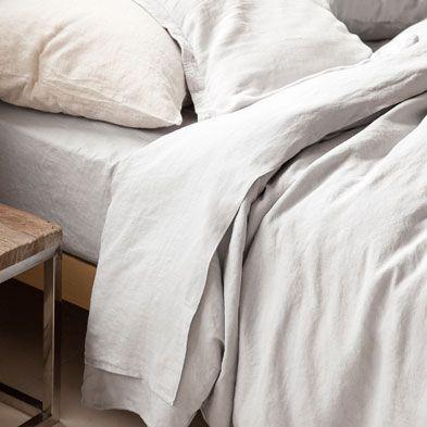 Grey linen bedlinen set - Bed Linen - Bedroom   Zara Home United Kingdom