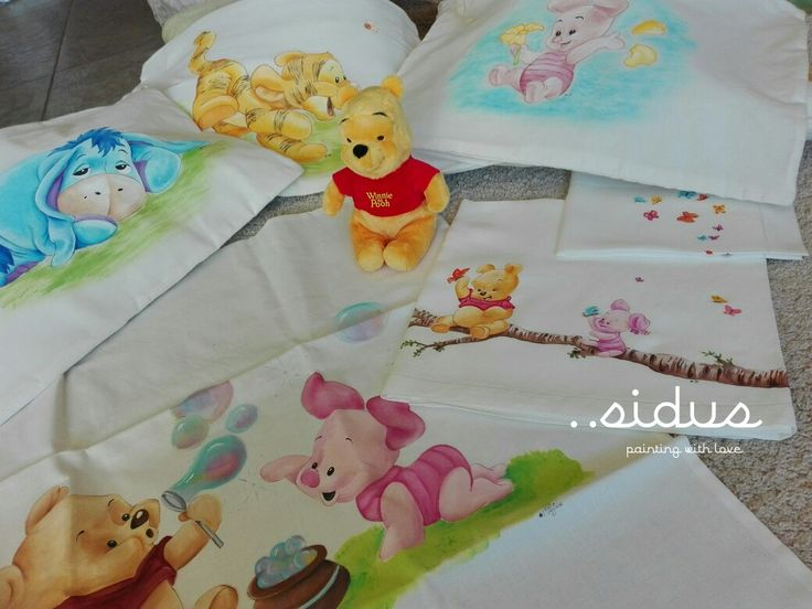 Corredino Winnie the Pooh per bimbi, bebè, baby, dipinto a mano
