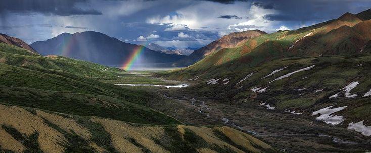 Rainbow, Landscape, Scenic