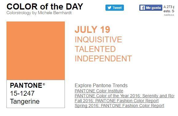 …y el color de hoy es Mandarina, un color inquisitivo, talentoso, independiente. Más info en http://www.pyma.com/tutoriales-y-trucos/general/y-los-colores-pantone-de-esta-semana-sonsemana-del-18-al-24-de-julio/