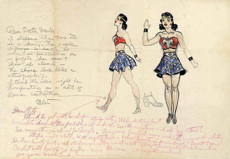 ORIGINAL SKETCH OF WONDER WOMAN GOES UP FOR AUCTION