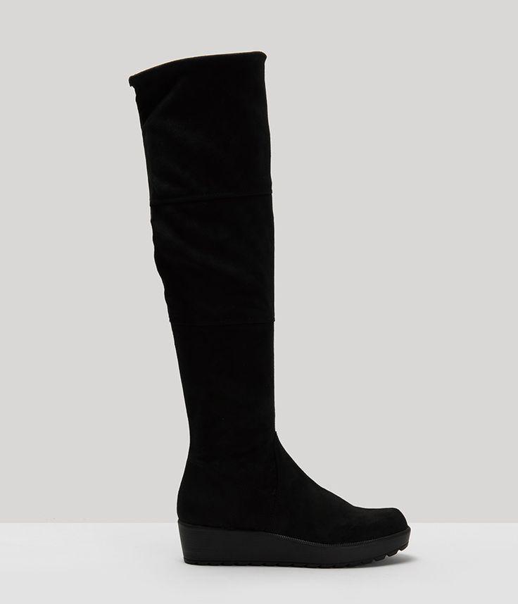 Tamaris Flat Μαύρες Μπότες 25617-001 - buldoza.gr