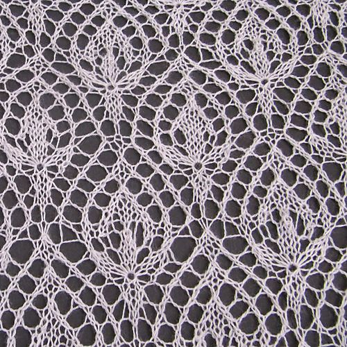 "This is variation on one of the most famous and beautiful motifs for Haapsalu shawls ""Waterlily"". The pattern is designed for knitting of lace shawls."