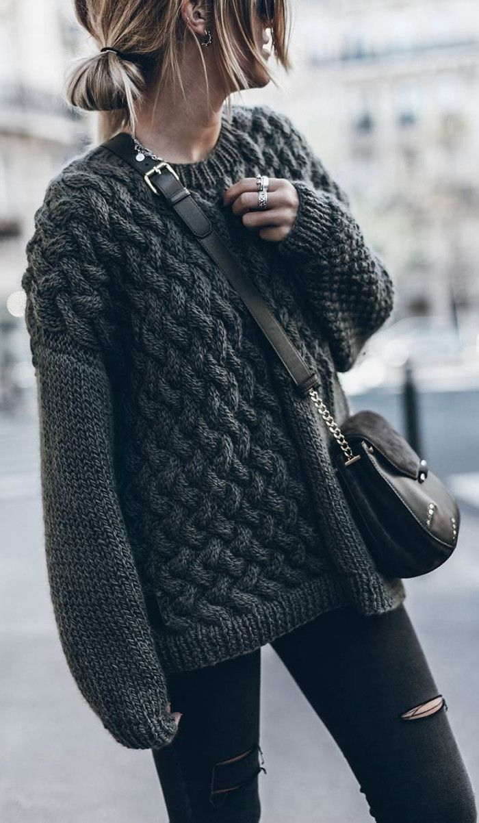 116 Best How To Wear A Cozy Sweater Knits Images On Pinterest Tendencies Black Logo Pullover Hitam Xl 30 Awesome Outfit Ideas Sweaters All Outfitblack Outfitsfall Fashion Trendsfall