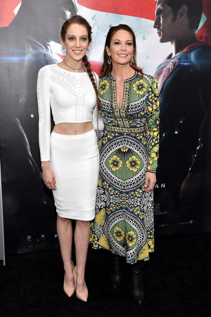 Diane Lane and Daughter at Batman v Superman Premiere 2016 | POPSUGAR Celebrity