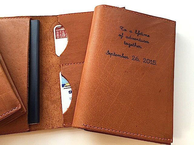 Leather Passport Case - emoji love by VIDA VIDA F6lOP