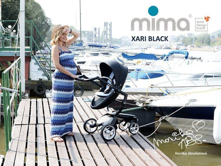 MIMA Xari kočárek 3G - sedák s korbou černý černý | Kašpárek Baby
