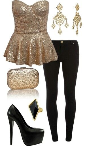 New Years Eve outfit, would love this in silver to