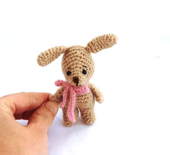 $23.92 EASTER BUNNY, crochet rabbit, little bunny, small #bunny, miniature #Easter doll, stuffed bunny, Easter rabbit, bunny toy, #handcraft bunny, handmade by crochAndi