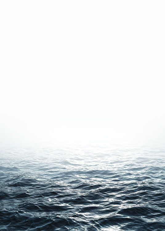 Print with a photo of the sea.
