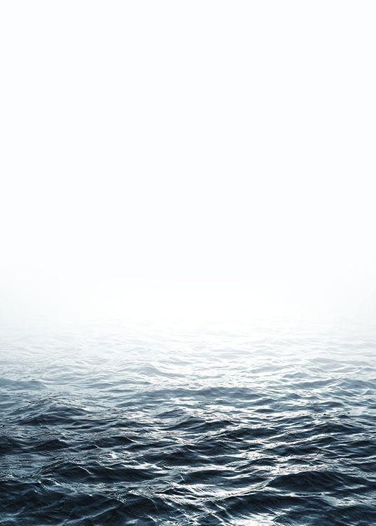Plakat med fotokunst af åbent hav