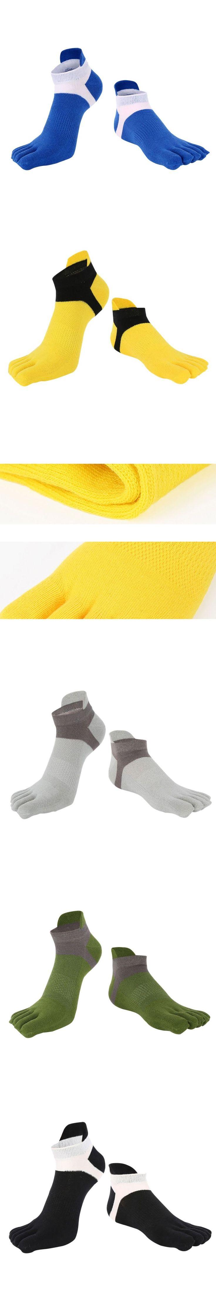 Men's Casual Toe Cotton Socks Deportes Short Tube Mesh Finger Meias Polyester Sock Correr Elasticity Sock Five Finger 16hevs