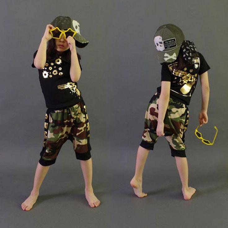 >> Click to Buy << Brand 2016 New summer children's clothing set Costumes Golden gun T-shirt + Hip Hop harem shorts kids sport suits camouflage #Affiliate