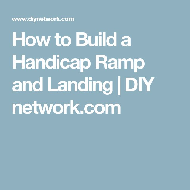 how to build a wheelchair ramp pdf