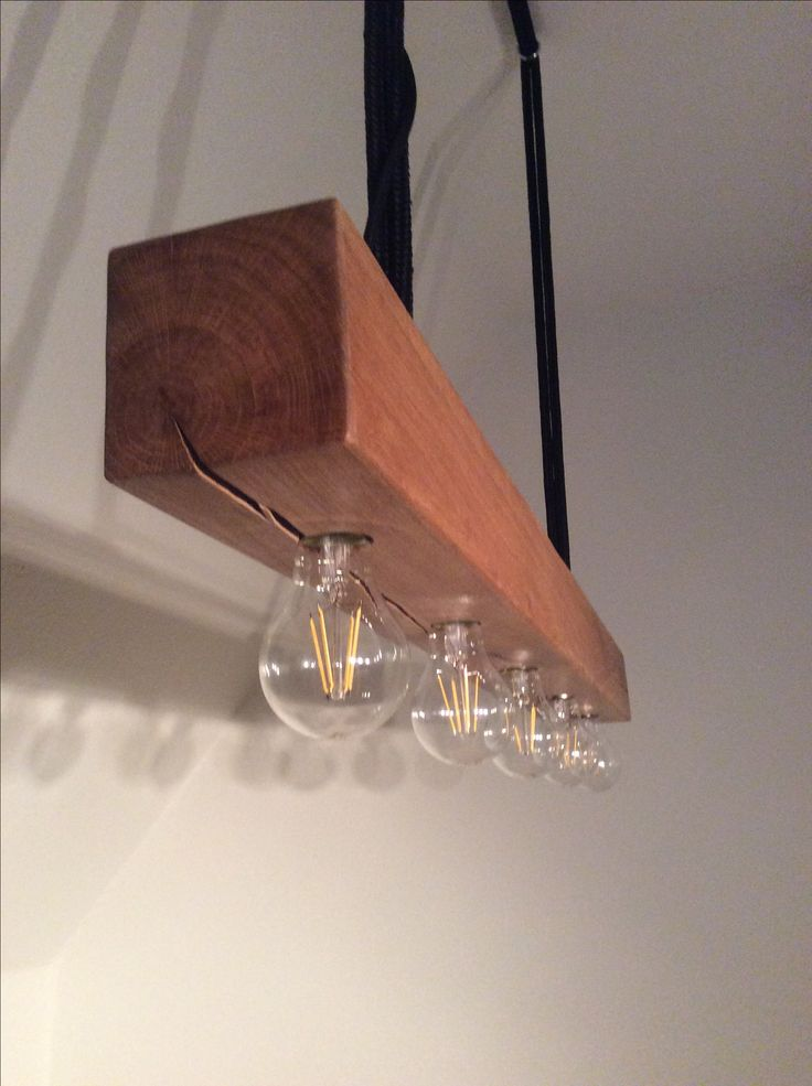 Wood Lamp, detail, designed and made by me.