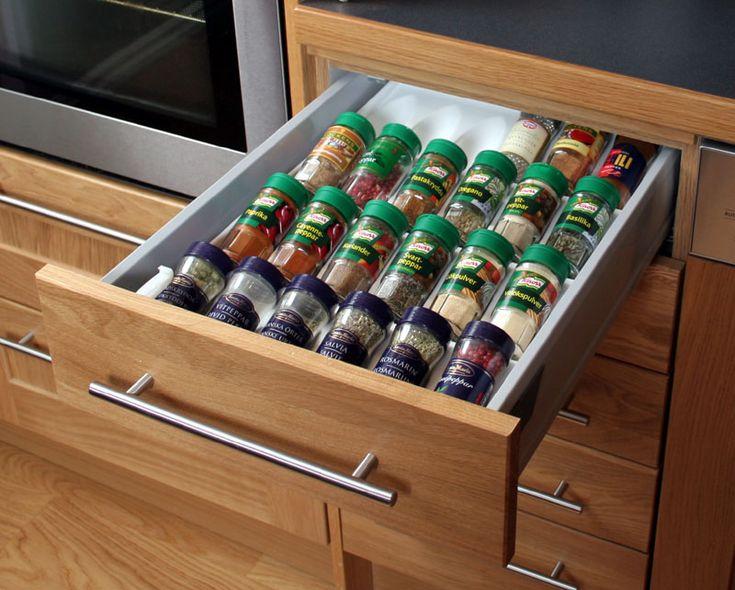 #Kryddförvaring med #Kryddfack för Låda Vit Plast, 40 cm Låda