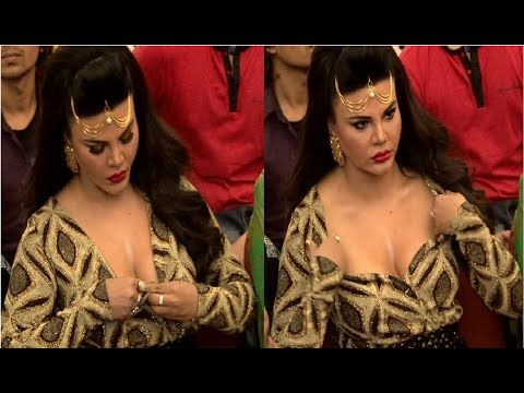 OMG ! Rakhi Sawant openly adjusting her dress in front of camera. See the full video at : https://youtu.be/BDnh4M95fP8 #rakhisawant